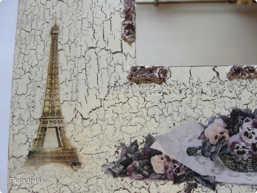 """Здравствуйте, дорогие мастера и мастерицы! У меня на даче лет 5 висело 4 икеевских зеркала и, думаю, ждали своего звездного часа. И дождались.......Лучшая подруга ( та,  для которой делала часы """"Кофемания"""") улетела в Париж. Мечтали вместе , полетела одна( я по ряду обстоятельств не смогла никак) фото 3"""