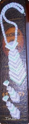 Бисерные украшения в форме галстука. фото 3
