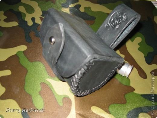 кобура пульница с нижней застёжкой, широкая... фото 1