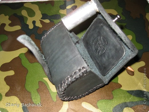 кобура пульница с нижней застёжкой, широкая... фото 3