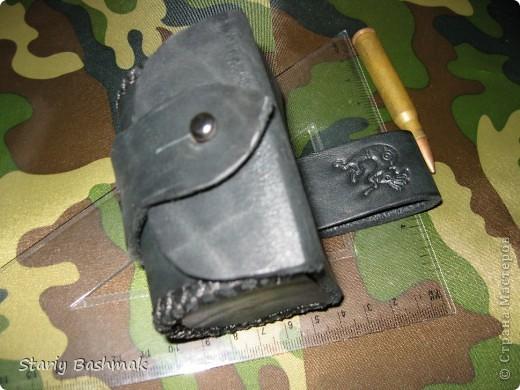 кобура пульница с нижней застёжкой, широкая... фото 5