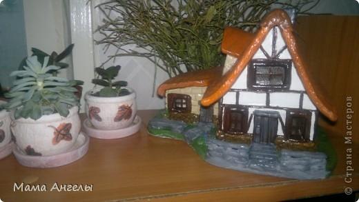 Глиняные домики моя страсть! Вот попробывала смастерить своими руками... фото 6