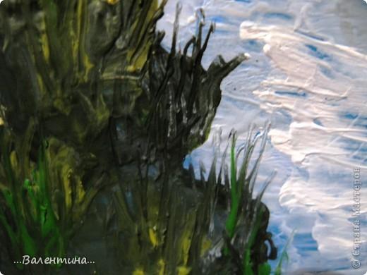 """Люблю """"побродить"""" по просторам нашей Страны Мастеров. Недавно нашла удивительный горный пейзаж     http://stranamasterov.ru/node/164517    .Утюг и мелки всегда под рукой. И вот что у меня получилось.  На следующих фото изображены элементы картины в режиме макросъемка без вспышки. фото 2"""