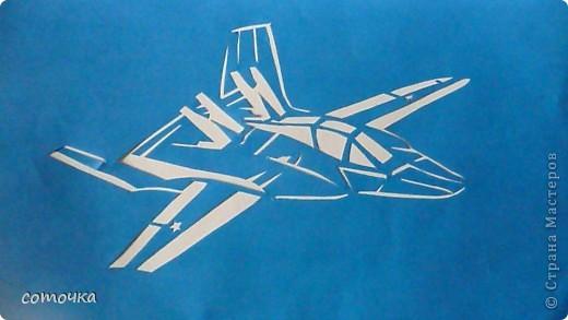 Поделки для мальчиков 23 февраля Вырезание Техника 2 Самолеты Бумага фото 3