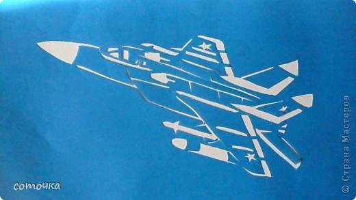 Поделки для мальчиков 23 февраля Вырезание Техника 2 Самолеты Бумага фото 1