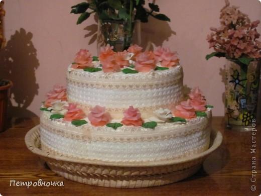 Девчонки мои потребовали, что бы и на СЮТе был мой тортик. Решила сделать круглый  на этот раз. фото 2