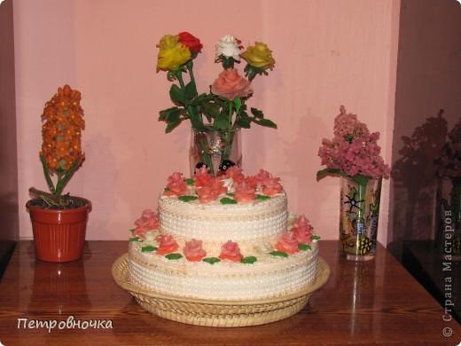Девчонки мои потребовали, что бы и на СЮТе был мой тортик. Решила сделать круглый  на этот раз. фото 4