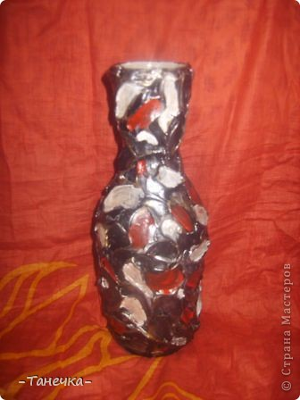 """Такая вот у меня """"лапчатая"""" ваза-бутылка!  фото 2"""