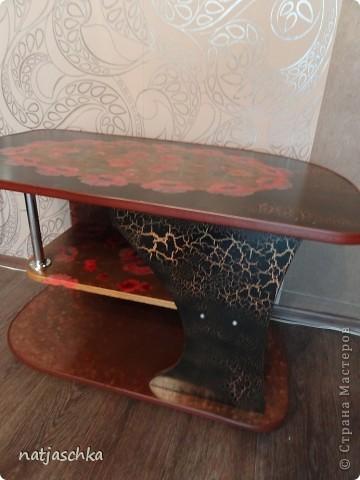 Столик был обычного цвета ольха,но после ремонта никак не вписывался в новый интерьер(((...пришлось с ним разделываться!!!))) фото 1