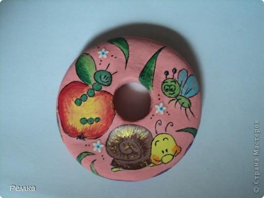 Двусторонний кулончик на день рождения своей крестнице, диаметр около 4 см фото 4