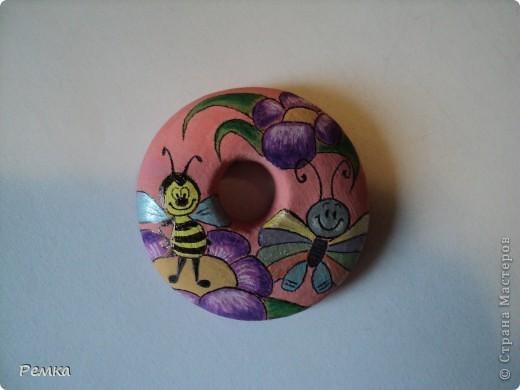 Двусторонний кулончик на день рождения своей крестнице, диаметр около 4 см фото 3