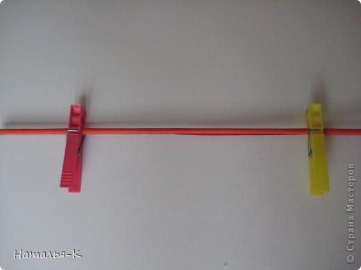 Рамочка из бумажных трубочек.  фото 7