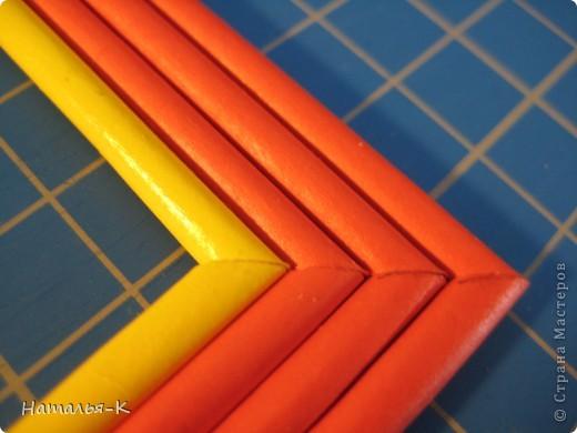 Рамочка из бумажных трубочек.  фото 16
