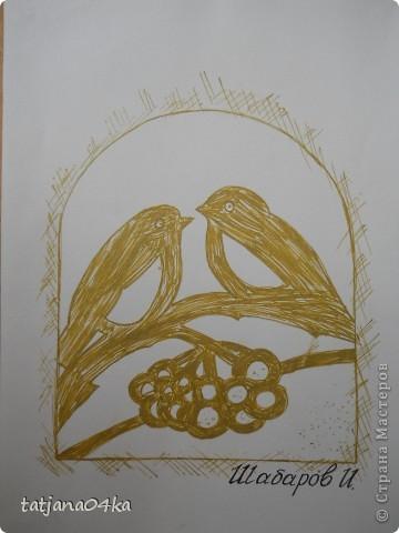 Всё о зиме (пастель, краски, цветная бумага, гелевые ручки) фото 10