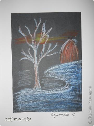 Всё о зиме (пастель, краски, цветная бумага, гелевые ручки) фото 1