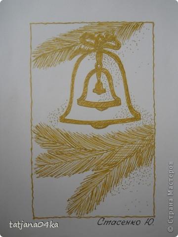 Всё о зиме (пастель, краски, цветная бумага, гелевые ручки) фото 12