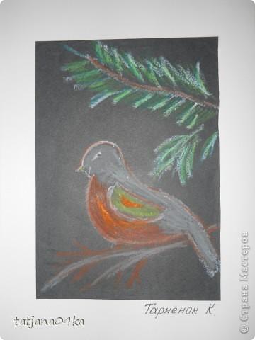 Всё о зиме (пастель, краски, цветная бумага, гелевые ручки) фото 4