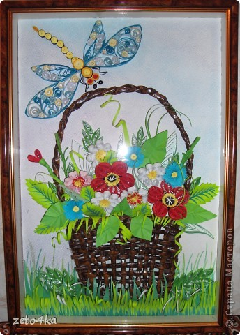 А вот и моя корзина с цветами