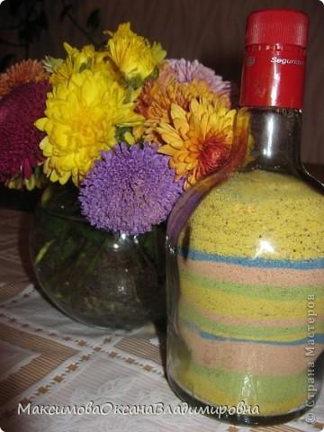 В дет.сад попросили сделать гантели для детей-в бутылки насыпать песок и приклеить пробку, мне эта идея показалась довольно скучной.......и вот что у меня вышло фото 2