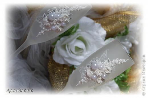 """Свадебные бокалы """"Нежность"""" фото 1"""