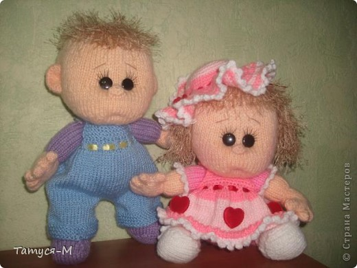 Куклы Вязание спицами Пупсы