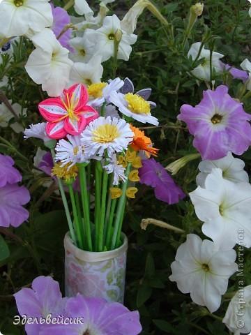 Букетик квиллинг-цветочков фото 2
