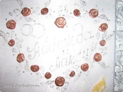 Ну наконец-то, дошли ручёнки до декора свадебного альбома для предстоящей свадьбы сестренки. Интересно послушать мнения окружающих, может где-то, что-то не так? фото 2