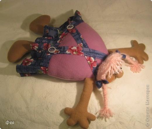 Скоро моей крёстной дочке исполняется 4 годика, вот такую Девчушку- подушку сшила ей в подарок:) фото 2