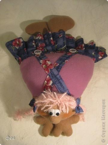 Скоро моей крёстной дочке исполняется 4 годика, вот такую Девчушку- подушку сшила ей в подарок:) фото 5