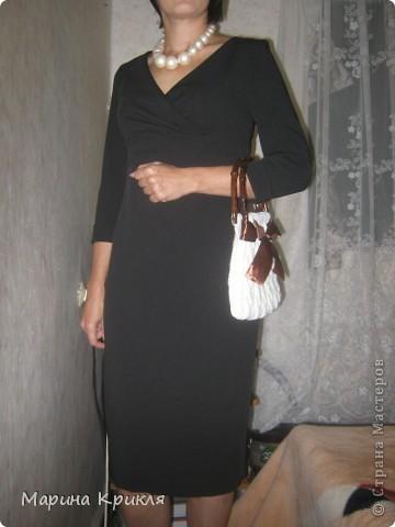 Все началось с бусиков, потом появилась сумка, платье было еще в мечтах... И наконец то оно готово! фото 1
