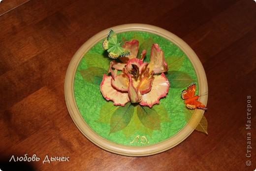 Цветок на счастье.Работа выполнена из косточек рыбы толстолобика. фото 1