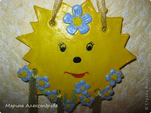 вот такое солнышко украшает комнату маленького сыночка! Сереженьке солнышко очень понравилось, он тискал его долго в руках...и даже на зуб попробовал!  фото 1
