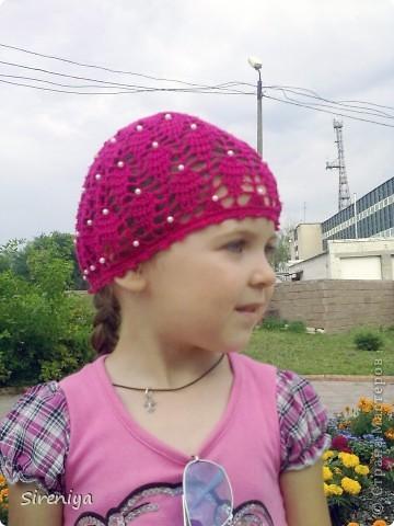 """Шапочка """"Роза"""" фото 6"""