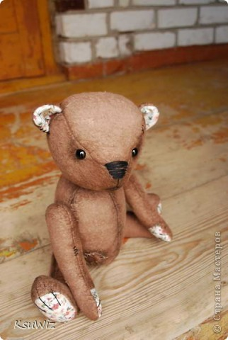 Хочу познакомить вас с Мишель, состаренной мишкой, сшитой на совместном пошиве. фото 5