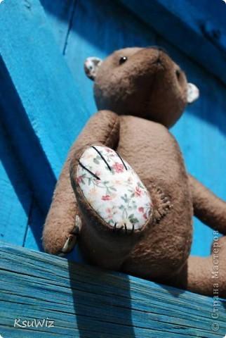 Хочу познакомить вас с Мишель, состаренной мишкой, сшитой на совместном пошиве. фото 6