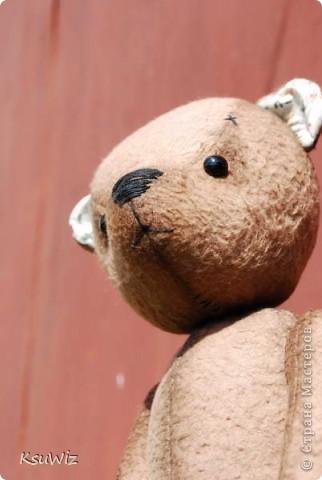 Хочу познакомить вас с Мишель, состаренной мишкой, сшитой на совместном пошиве. фото 8
