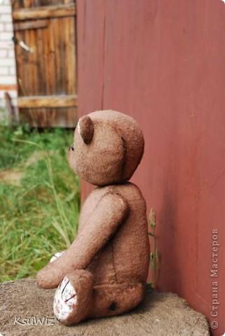 Хочу познакомить вас с Мишель, состаренной мишкой, сшитой на совместном пошиве. фото 9