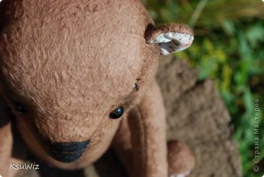 Хочу познакомить вас с Мишель, состаренной мишкой, сшитой на совместном пошиве. фото 1