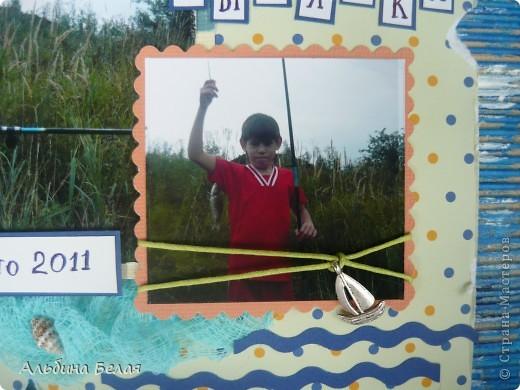 Приветики, Страна! Сыну в школе дали задание принести фото с летнего отдыха. А мы все лето провели в деревне - чистый воздух, природа, рыбалка... Вот и решила я сделать рамку. фото 6