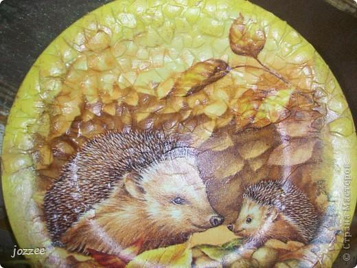 """Попросили в садик сделать поделки на тему осени, детства. Вот что из этого вышло:  Тарелочка """"Осень"""" фото 2"""
