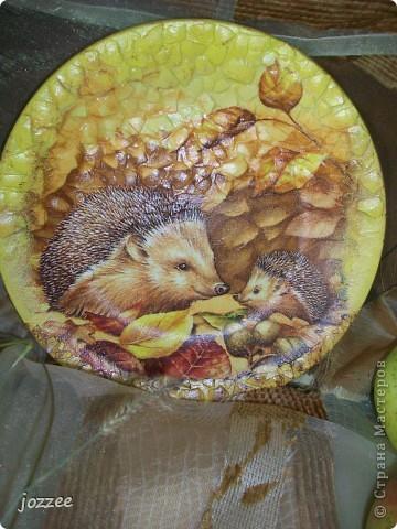 """Попросили в садик сделать поделки на тему осени, детства. Вот что из этого вышло:  Тарелочка """"Осень"""" фото 3"""