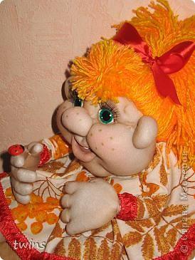 Куклы Начало учебного года Шитьё Осенняя девочка - попик  личико сшито по мотивам куклы - Дашенька автор pawy  фото 5