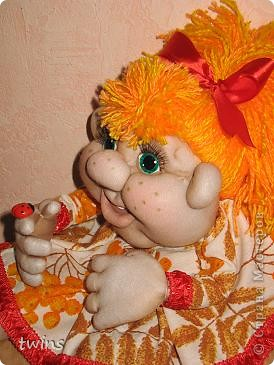Осенняя девочка - попик ( личико сшито по мотивам куклы - Дашенька (автор pawy) фото 5