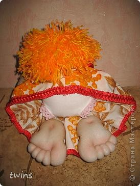 Осенняя девочка - попик ( личико сшито по мотивам куклы - Дашенька (автор pawy) фото 8