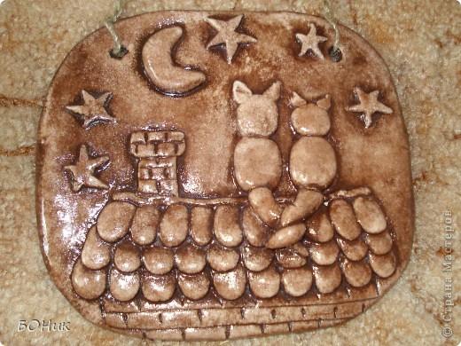 Картина панно рисунок Лепка Мои повторюшки Гуашь Тесто соленое фото 3