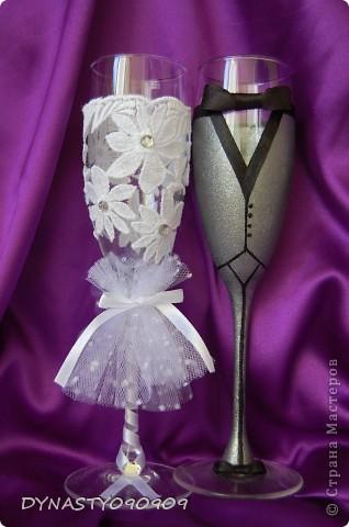 Очередные мои бокальчики,женихи с невестами пользуются спросом фото 2