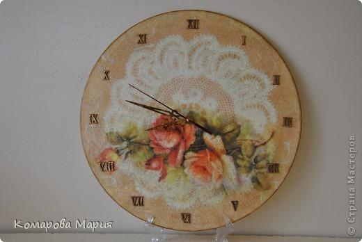 "Часы ""Винтажные розы"""