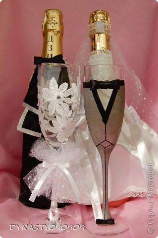 Очередные мои бокальчики,женихи с невестами пользуются спросом фото 3