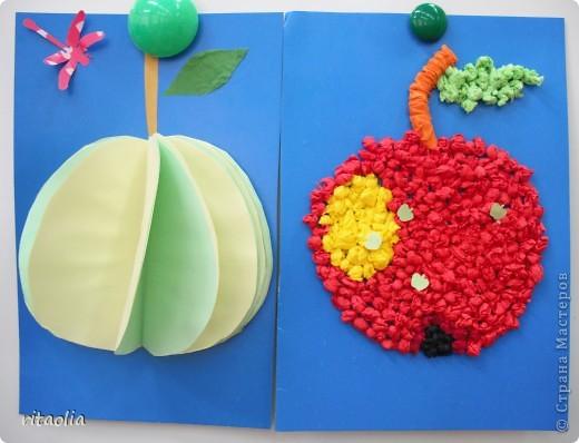 Вот такие фрукты сегодня собрали: Полина - грушу, Сонечка - яблоко. фото 2
