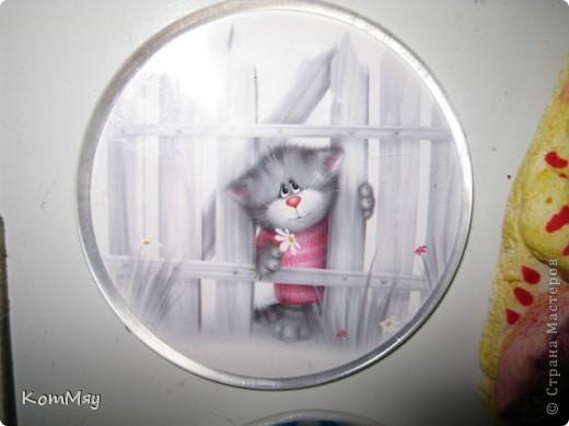 Выкладываю первую часть своей коллекции магнитов.  Тема - КОШКИ.  Этот магнит куплен в подмосковном городе Верея. Пластик фото 57